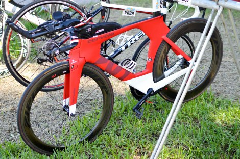 Cervelo P5 with the new for 2015 matte red paint job